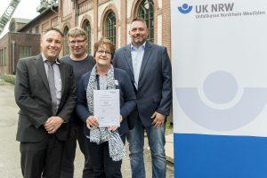 Landesverband Lippe wird bei Prämiensystem der Unfallkasse Nordrhein-Westfalen ausgezeichnet